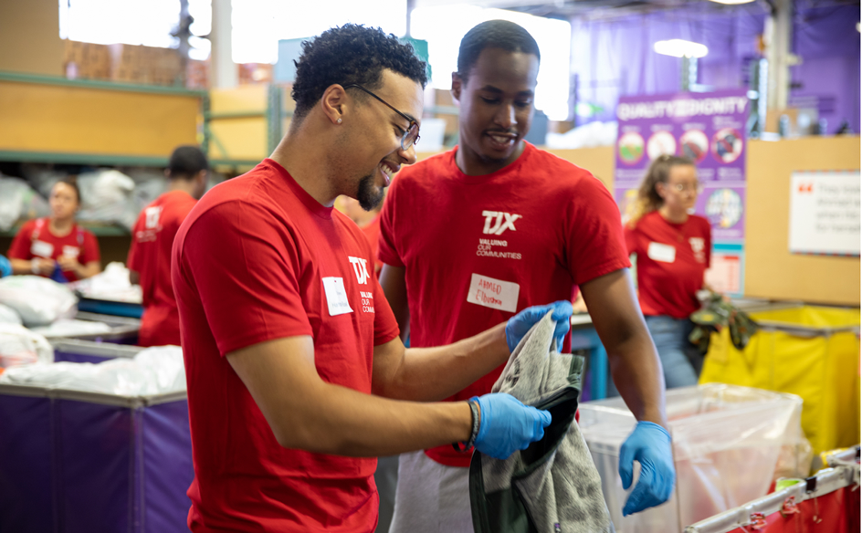 TJX associates engaging in charitable causes