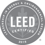 2015 LEED Certified - Leadership in Energy and Environmental Design