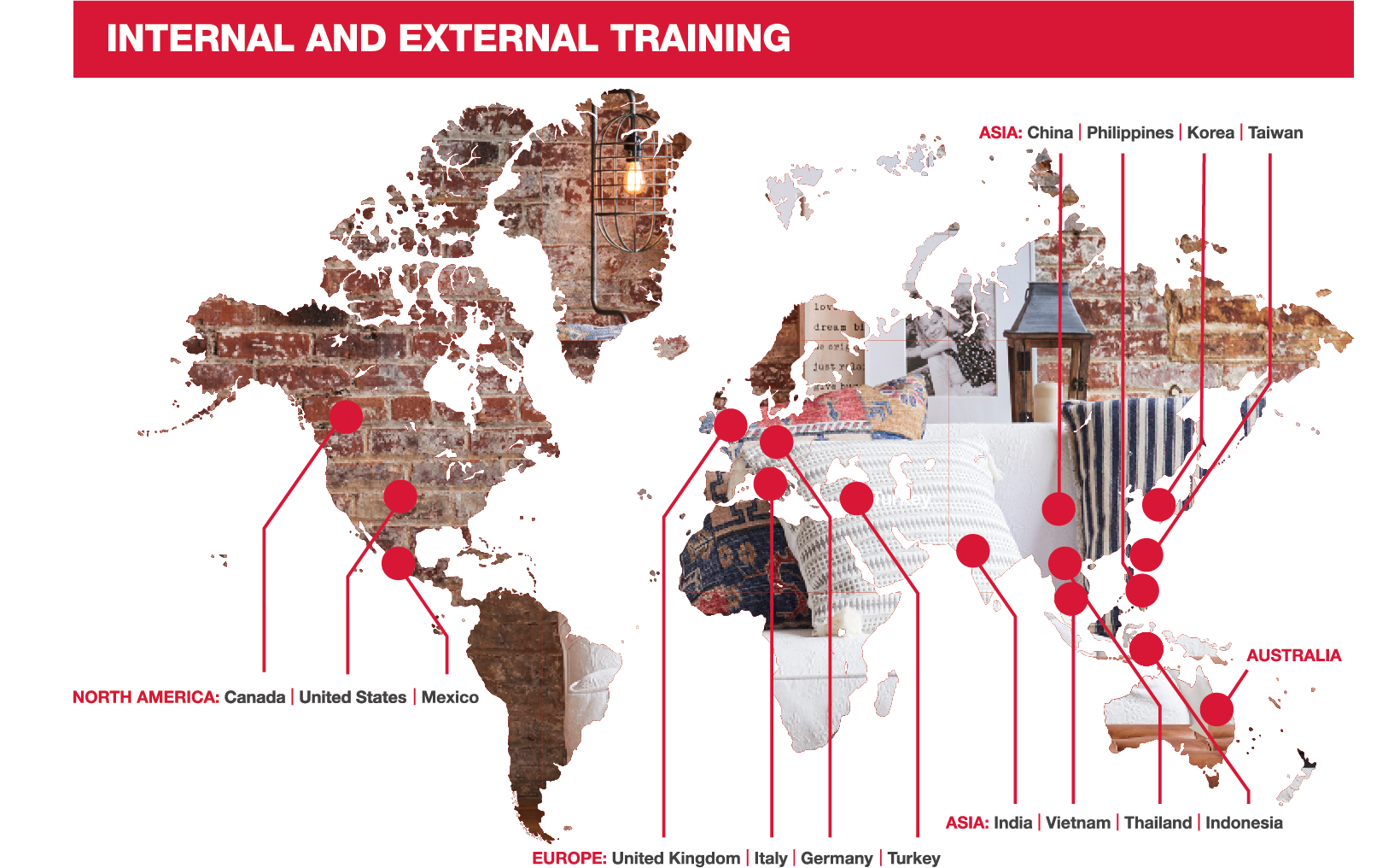 Map of TJX external and internal social compliance training