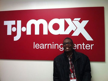 Darius at the TJ Maxx learning center