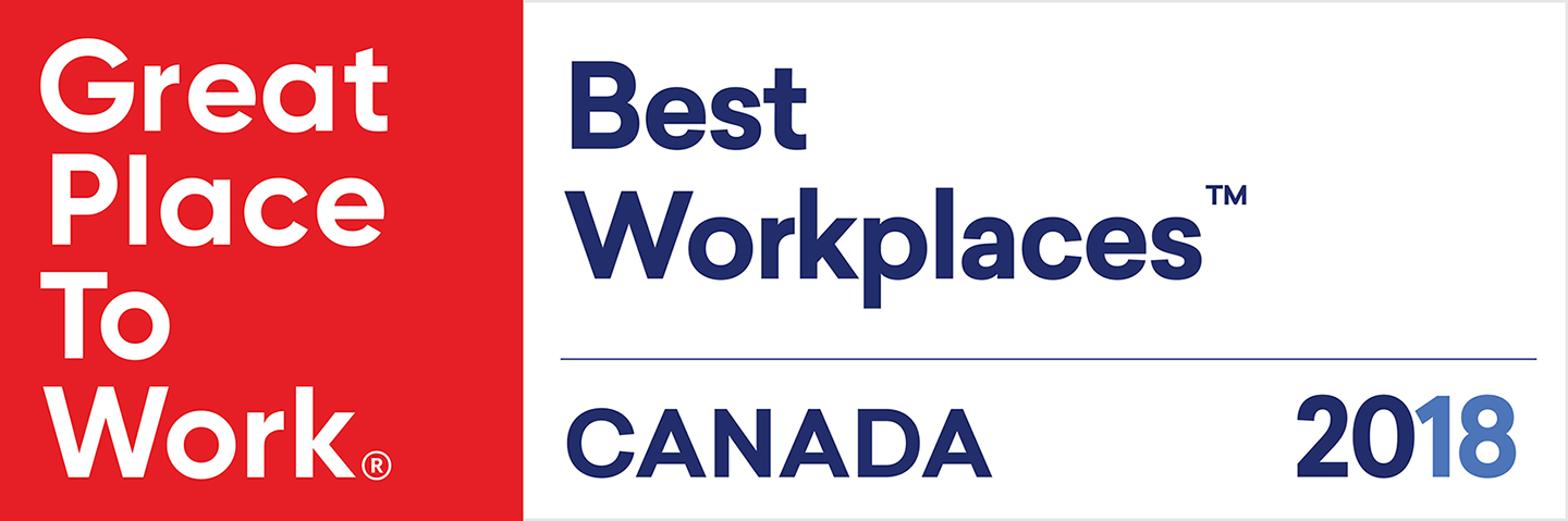 Great Place to work. Best Workplaces Canada. Canada 2018.
