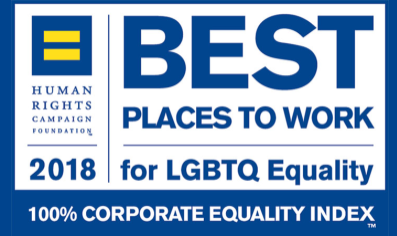 Human Rights Campaign Foundation 2018. Best places to work for LBBTQ Equality story page